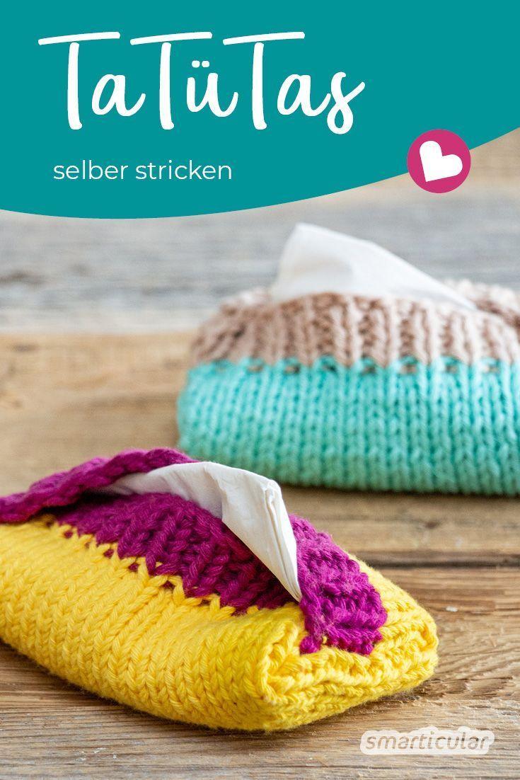 Photo of TaTüTa! Taschentüchertaschen selber stricken aus Wollresten,  #aus #selber #st…