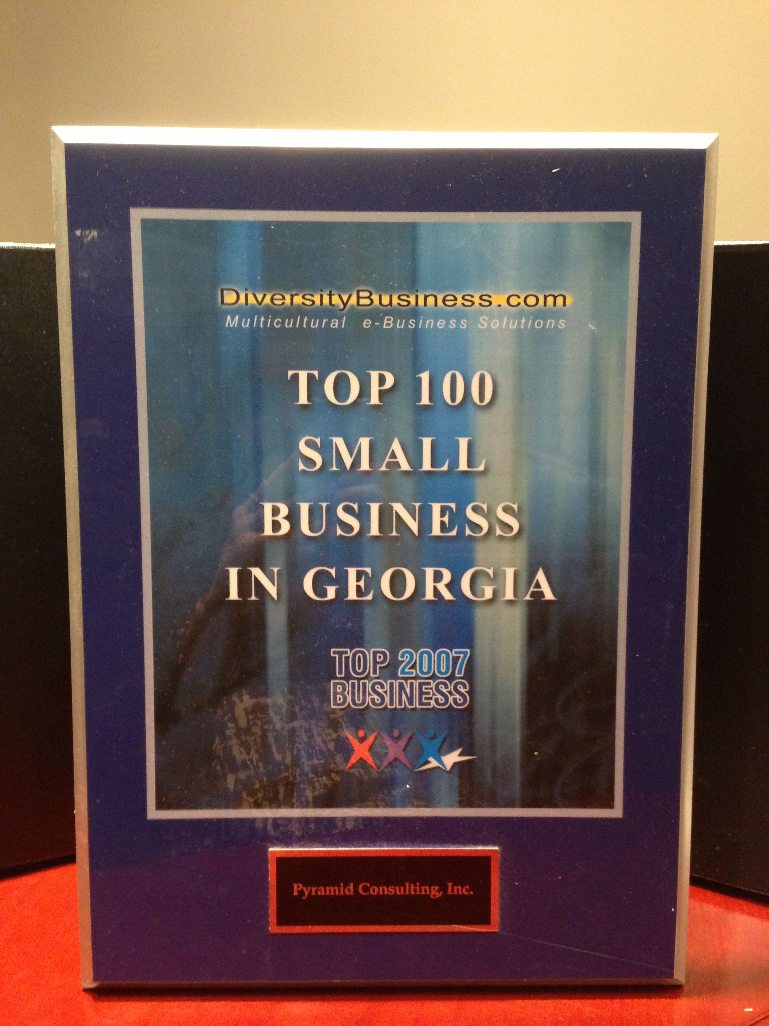 Top 100 Small Business in 2007 In recognition of