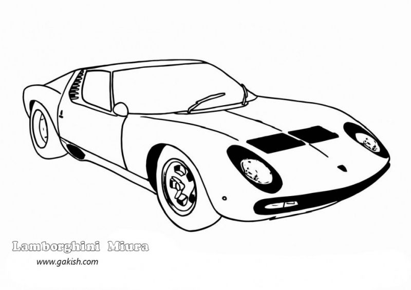 Classic Lamborghini Coloring Pictures Free To Print Cars