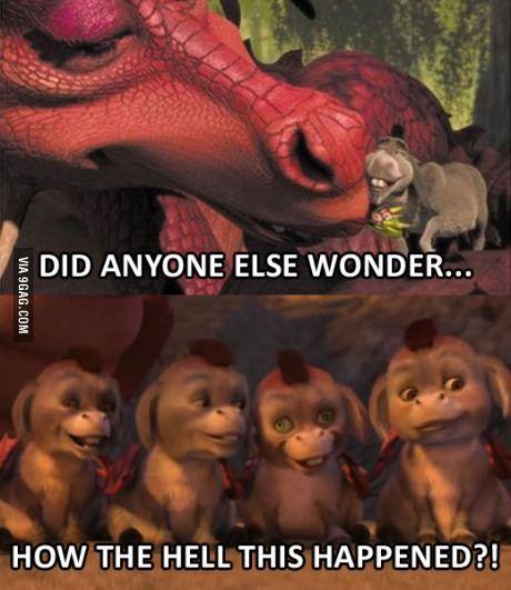 Shrek Logic Donkey  Dragon  Creepy Hybrid Donkey Dragon Babies  Donkey, Dragon, Shrek Memes, Shrek Donkey-2022