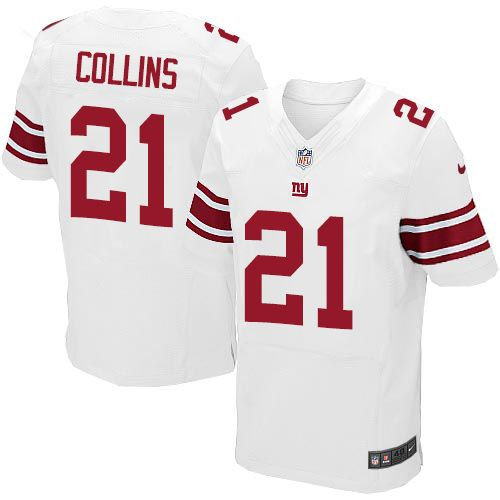 c3c6af772 Nike Elite Landon Collins White Men s Jersey - New York Giants  21 NFL Road