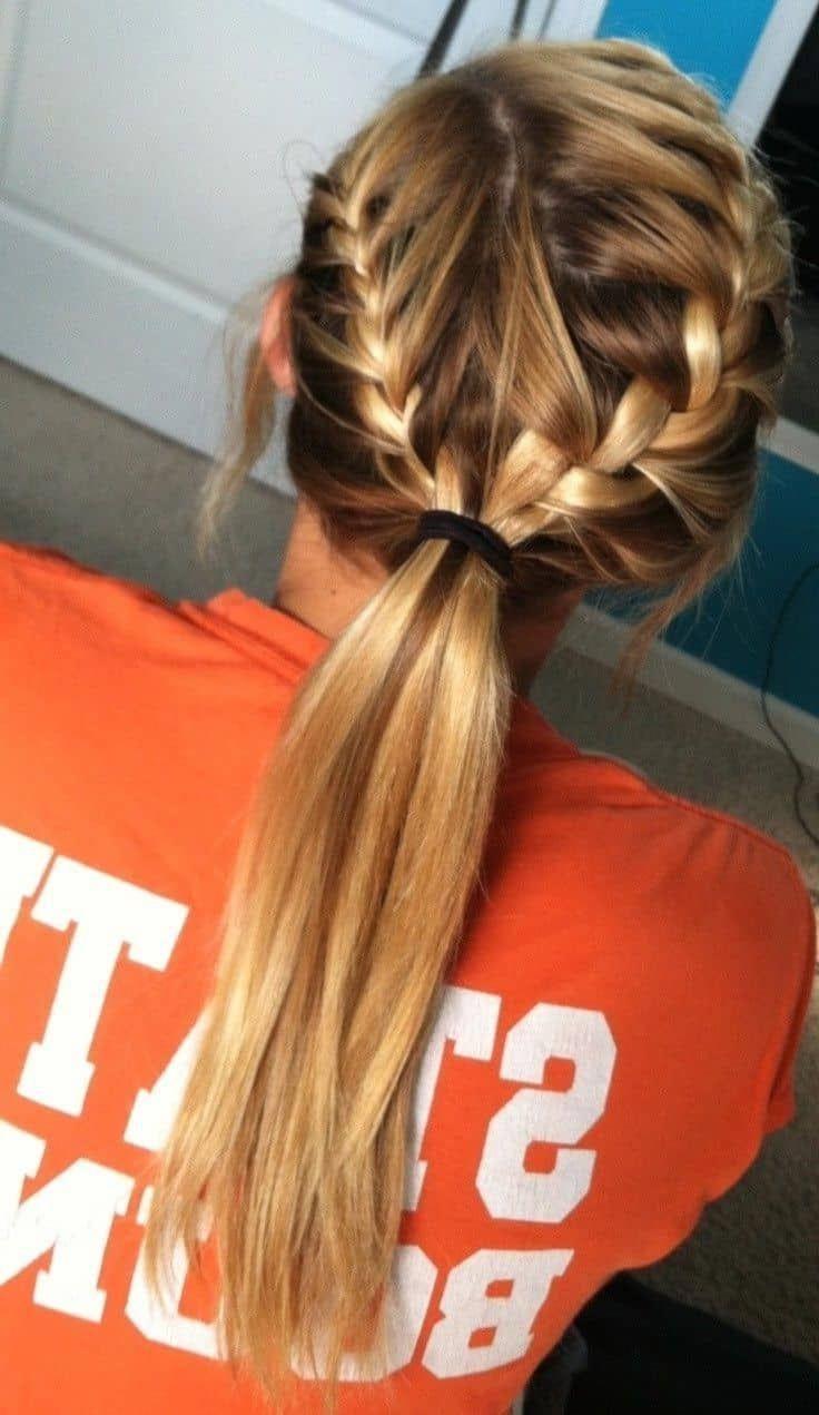 Hair Medium hair styles, Volleyball hairstyles, Sporty