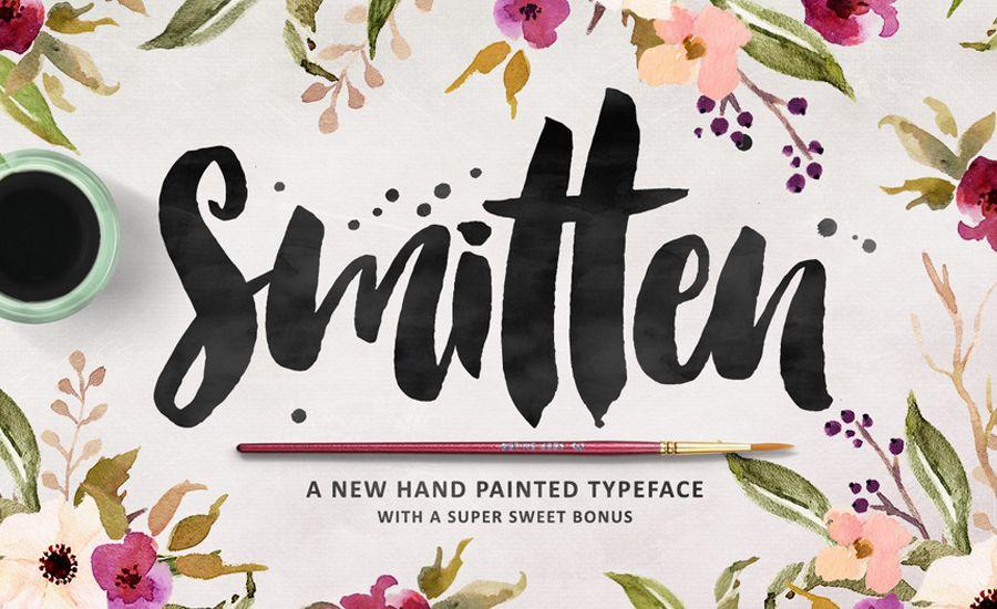 Beautiful script brush calligraphy fonts calligraphy
