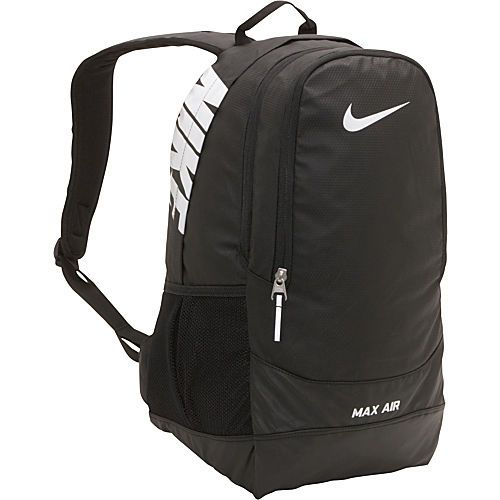 Nike Team Training Max Air large Backpack in Black Black  White -  59.99  via eBags.com!  workout  gymbackpacks 58dfae4bb3a2c