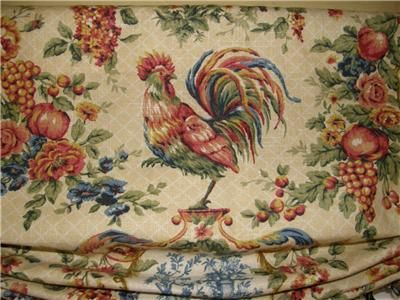 Waverly Chicken Fabrics Custom French Country Valance