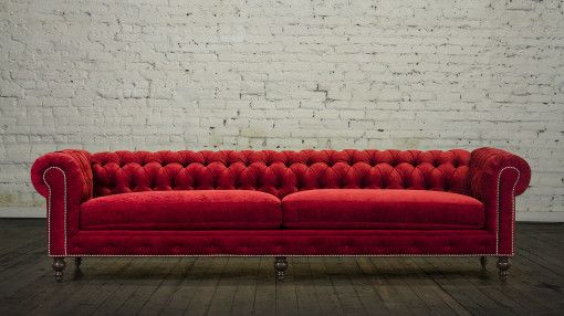 red velvet chesterfield sofa - Google Search | Living room ...