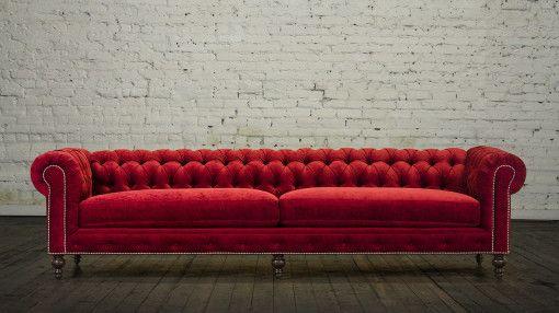 Red Velvet Chesterfield Sofa Google Search Sofa Chesterfield Sofa Chesterfield Furniture
