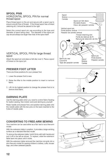 Singer 7462 Sewing Machine Instruction Manual Examples include - instruction manual