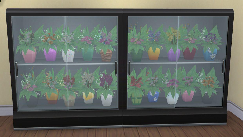 Flower arrangement fridge brazen lotus flower