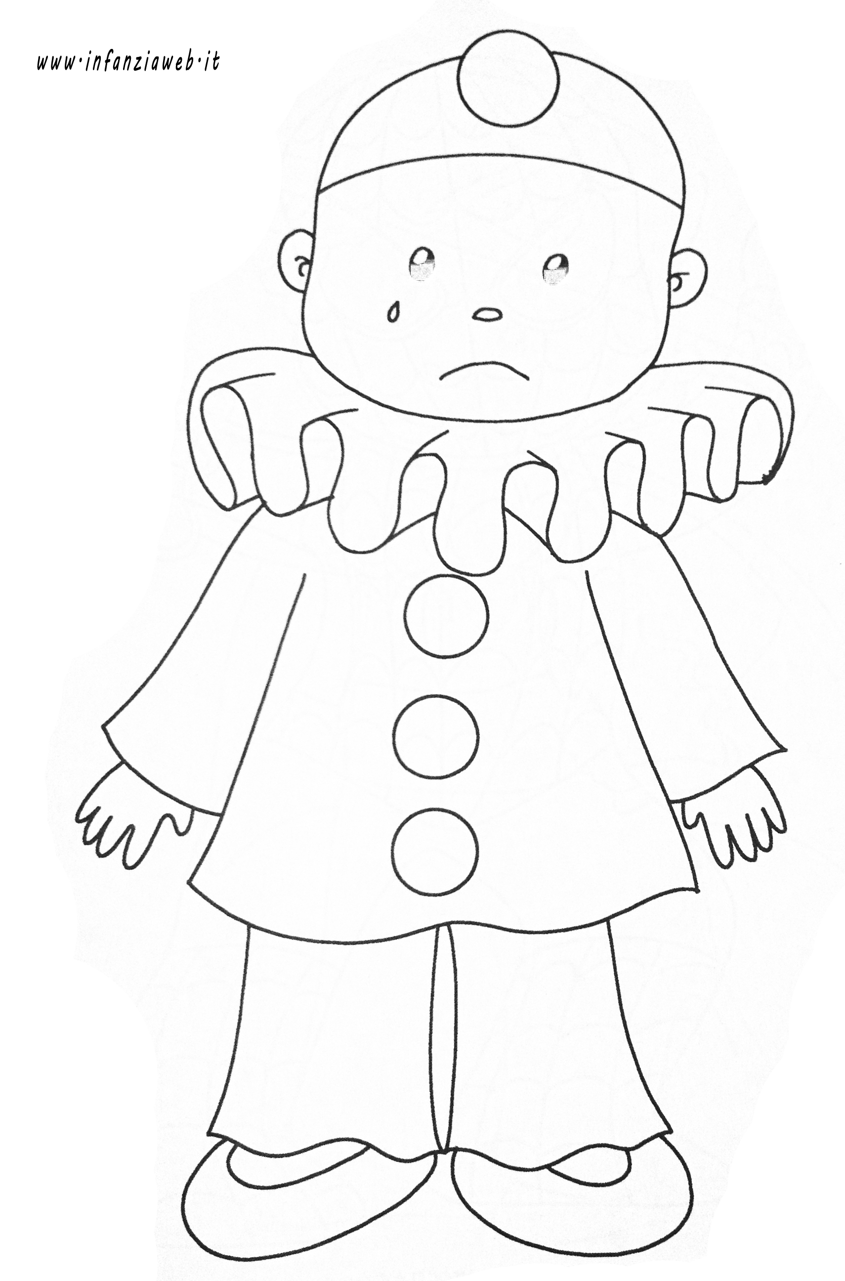 Pierrot Coloring Page