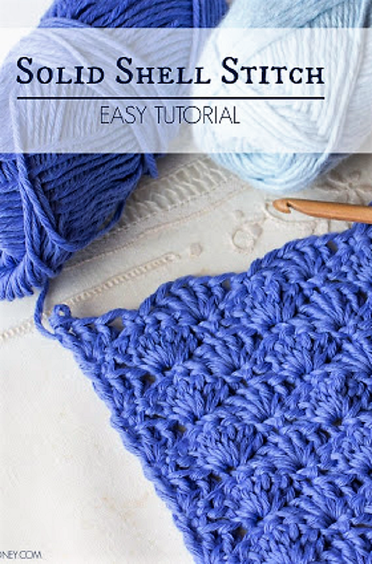 How To: Crochet The Solid Shell Stitch - Easy Tutorial | Muestras de ...