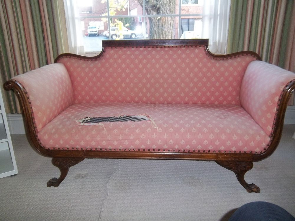Vintage 1950s 1960s Reproduction Loveseat / Settee / Sofa; VICTORIAN Couch