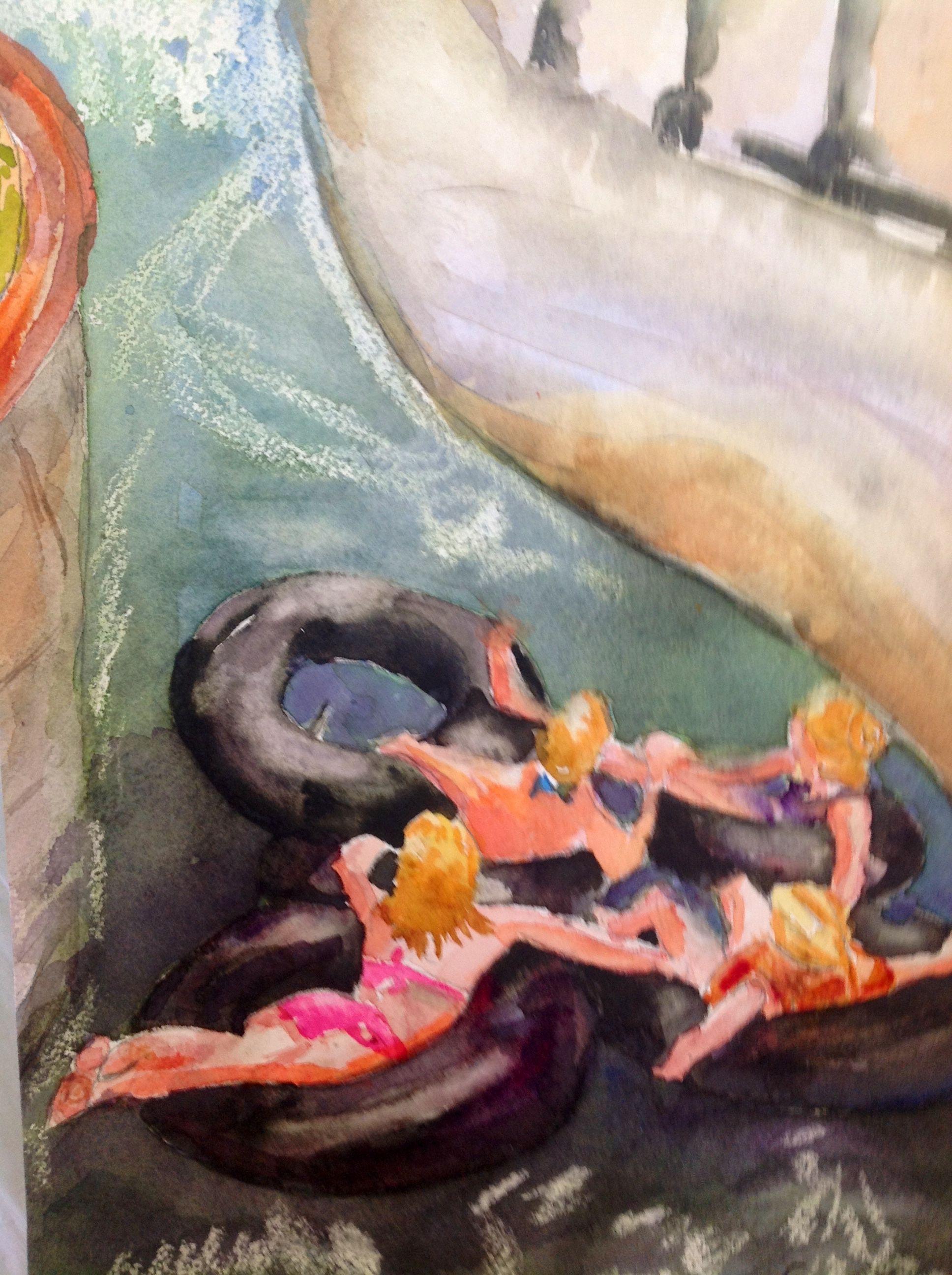 Watercolor artists in texas -  Hold On By Texas Watercolor Artist Karen Scherrer