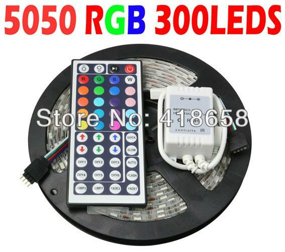 Led Light Strips With Remote Aliexpress  Buy Superbright 5M Flexible Rgb Led Light Strip
