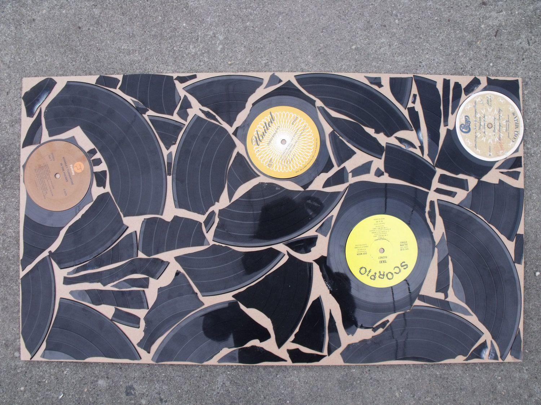 Diy Broken Record Vinyl Art Definitely Could Get Funky