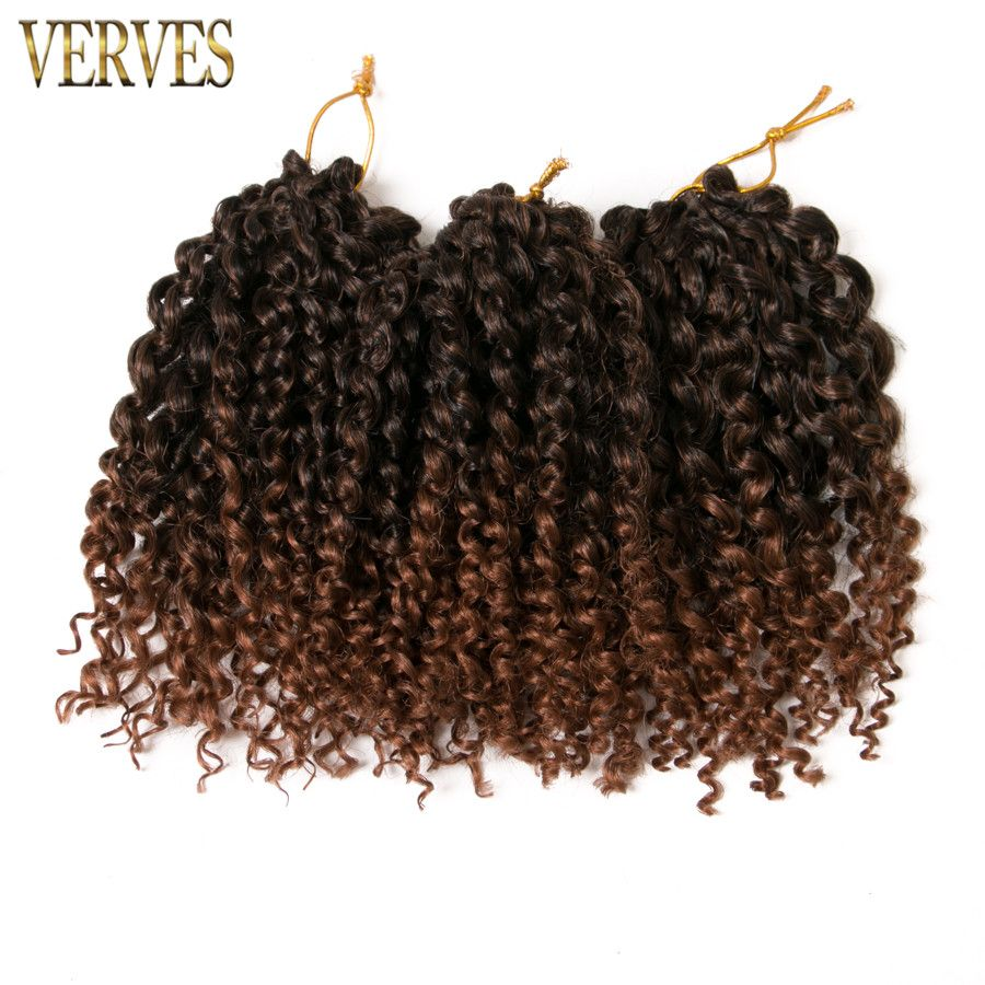 Verves brown crochet braids hair piece gpiece synthetic inch