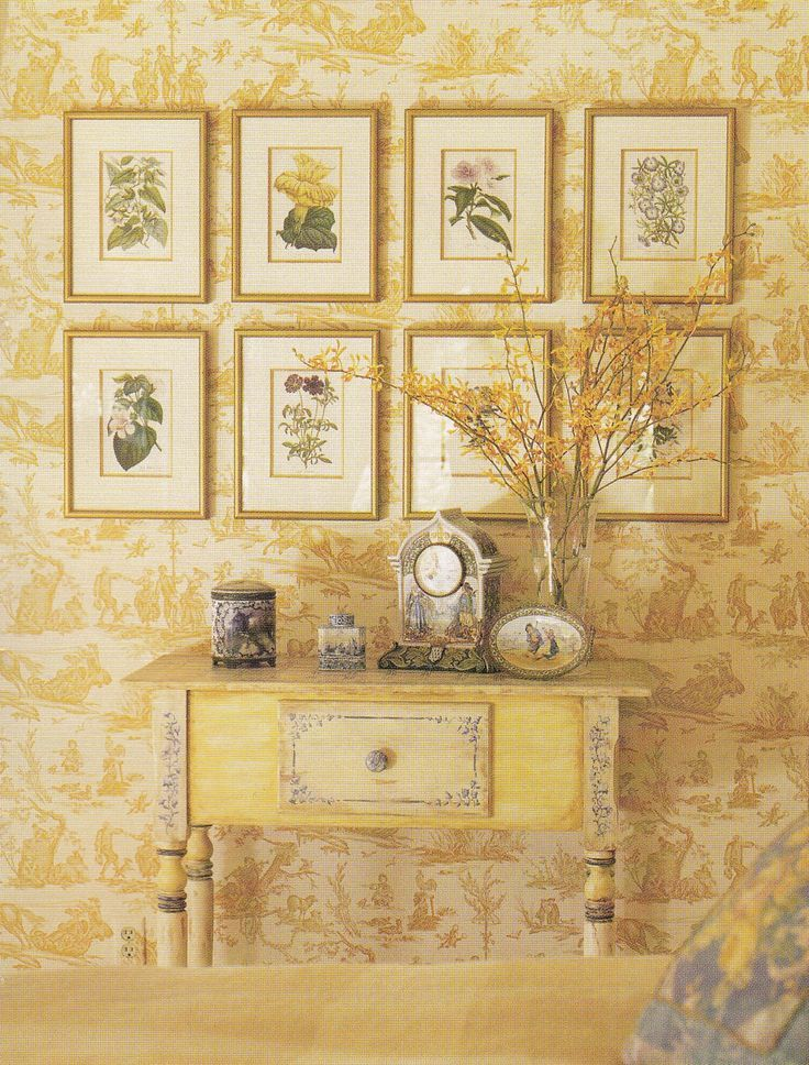 25 Creative Ways To Use Wallpaper From Pinterest | Yellow cottage ...