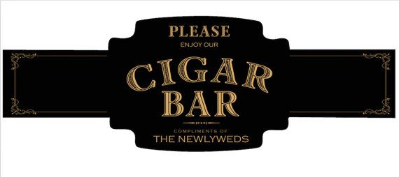 Cigar Bar Cigar Bands  gentlemen's Cigar Bands by JTGgraphicDesign