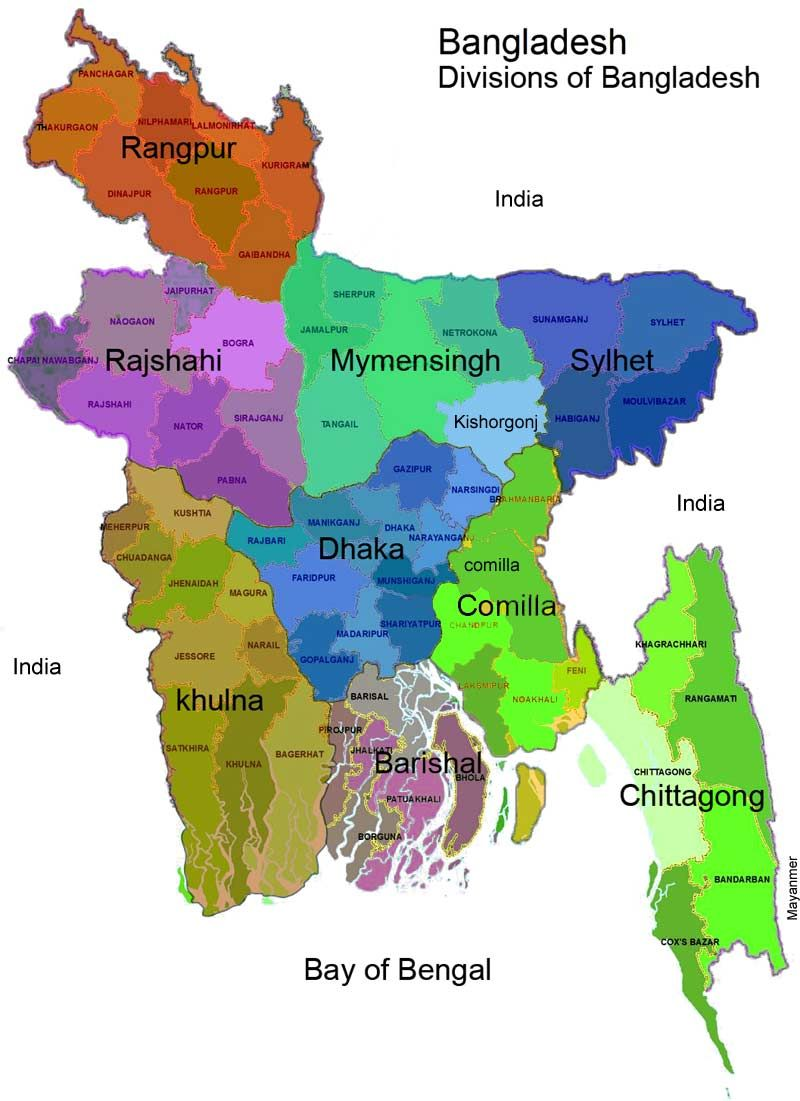 Bangladesh Map division wise | Maps