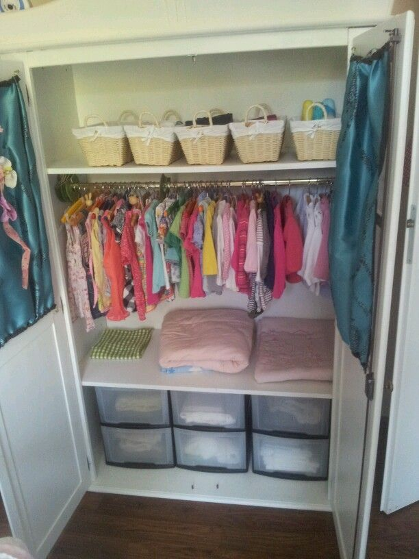 Attractive Closet Organization Ideas For Kids Part - 9: Kids Closet Organization - Minus The Middle Drawer Set On The Bottom And  Combine With Other Idea To Make A Little Desk Right In The Closet!