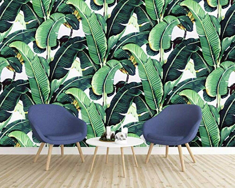 Bay Isle Home Blackman Banana Tropical Leaves Texture Wall M