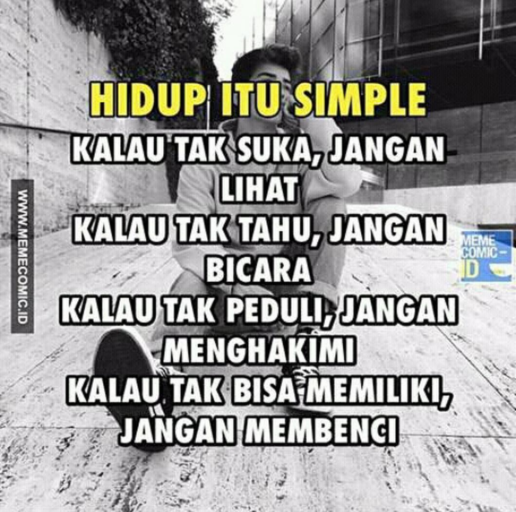 Hidup Simpel Foto 0 Kata Pinterest Quotes Quotes Indonesia