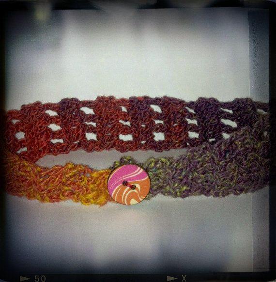 Crocheted Headband by peacelovecreations on Etsy, $10.00