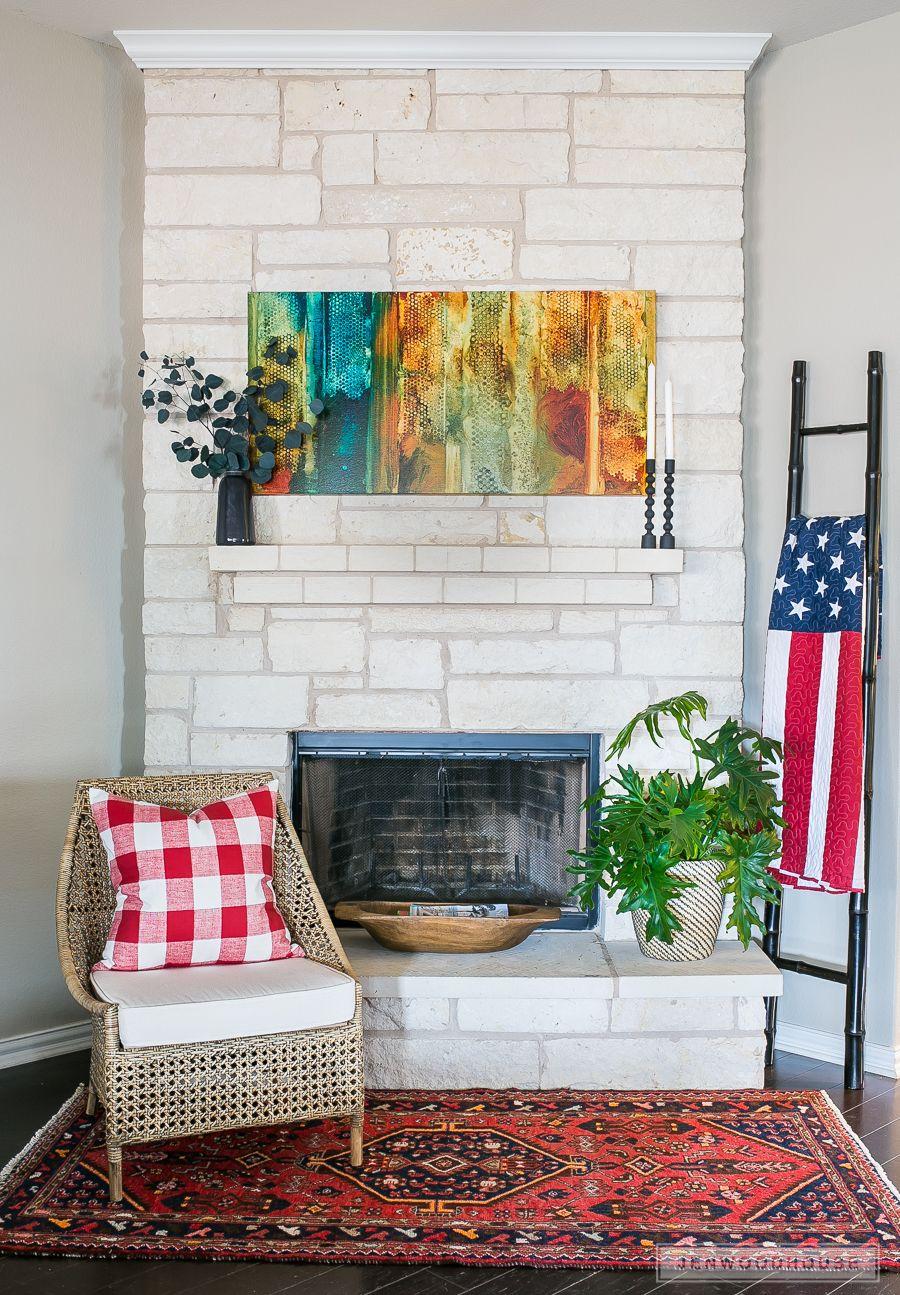 Patriotic Decor For Fireplace Mantel