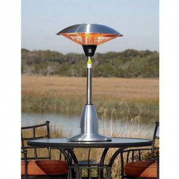 Stainless Steel Table Top Round Halogen Patio Heater Doheny S Pool Supplies Fast