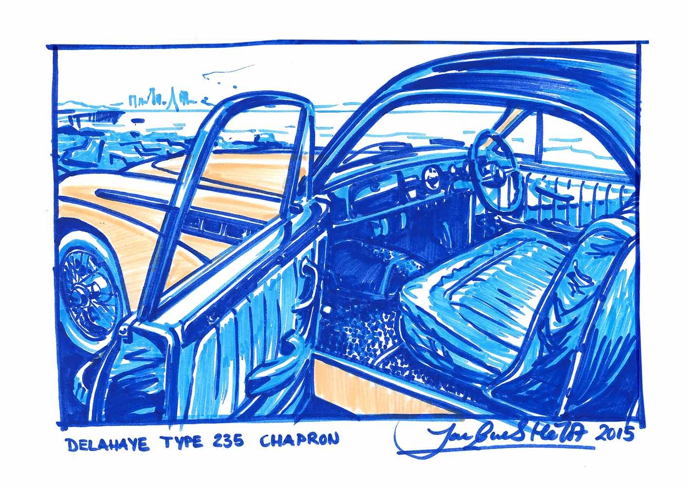 freehand sketch with faber castell children´s markers of