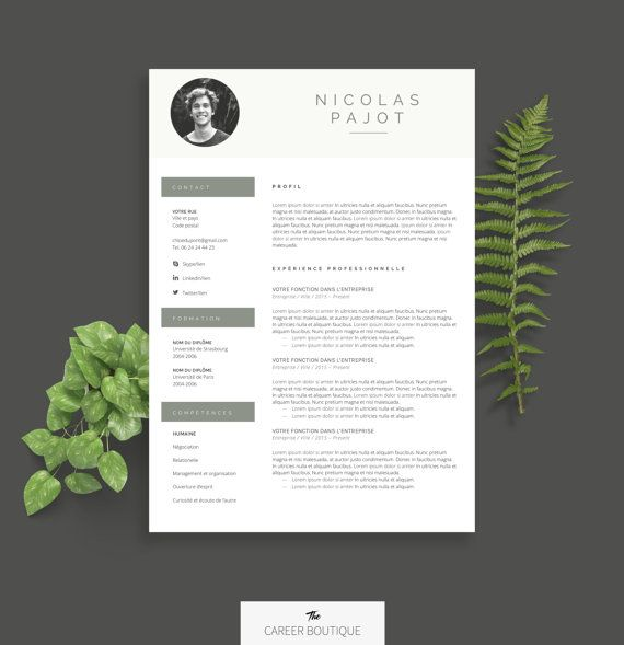 Modle De Cv  Resume Template  Lettre De Motivation Pour Ms Word