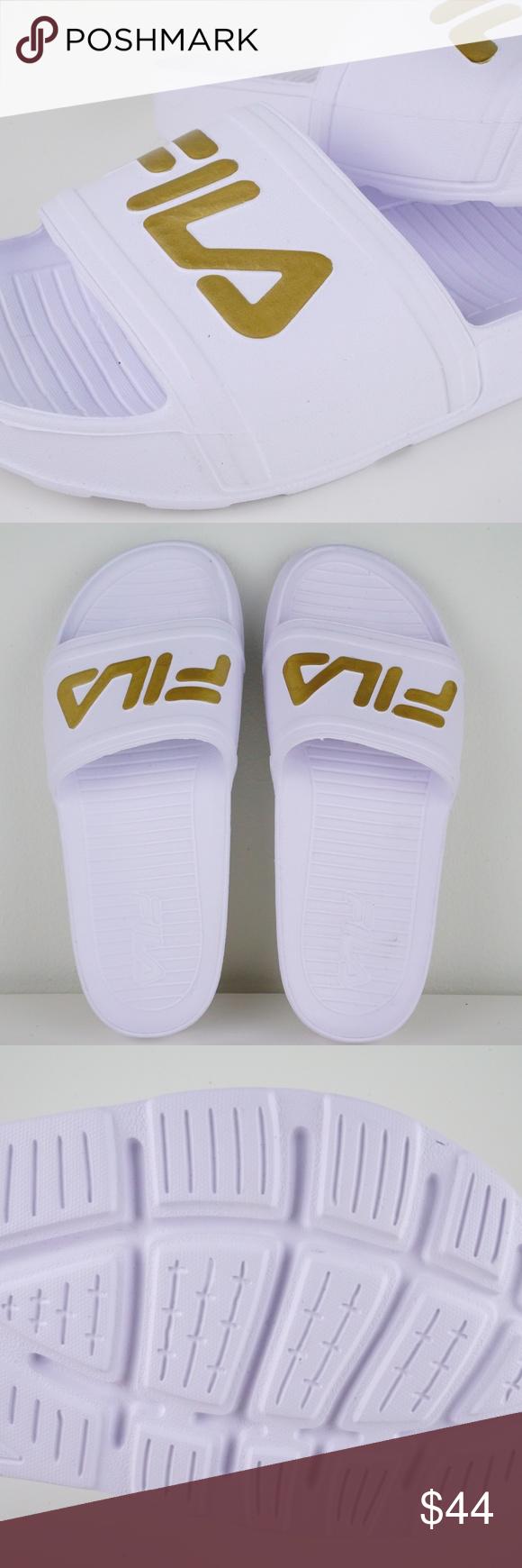 00c4508b3e08 Fila Sleek Slide LT Mens Sandals Flip Flops Brand New