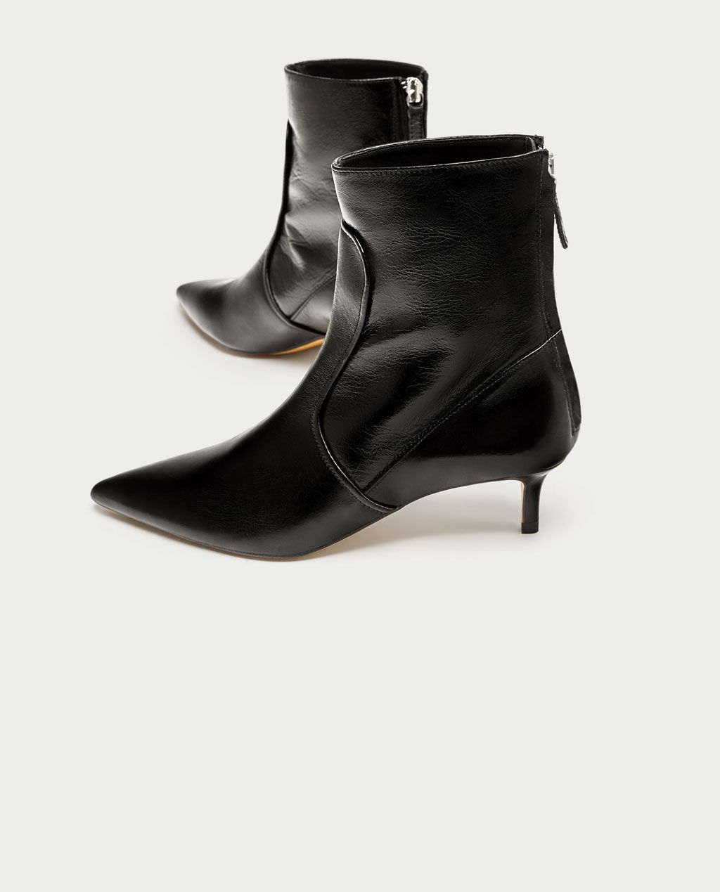 LEATHER HIGH HEEL ANKLE BOOTS from Zara