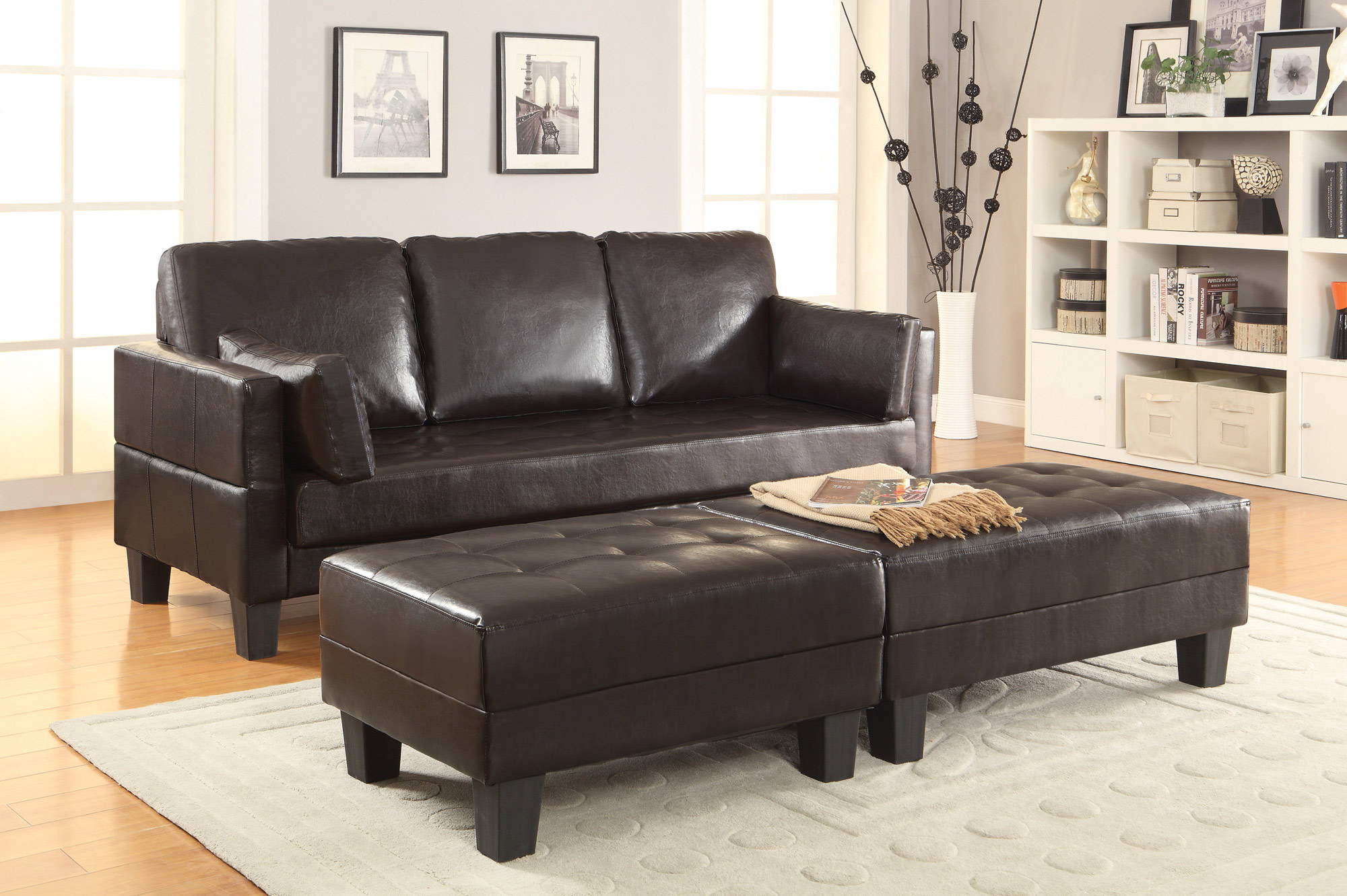 Astonishing Sofa Bed W 2 Ottomans Coaster Home Gallery Stores Dailytribune Chair Design For Home Dailytribuneorg