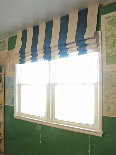 Striped Drop-Cloth Curtain Tutorial...made from a ...