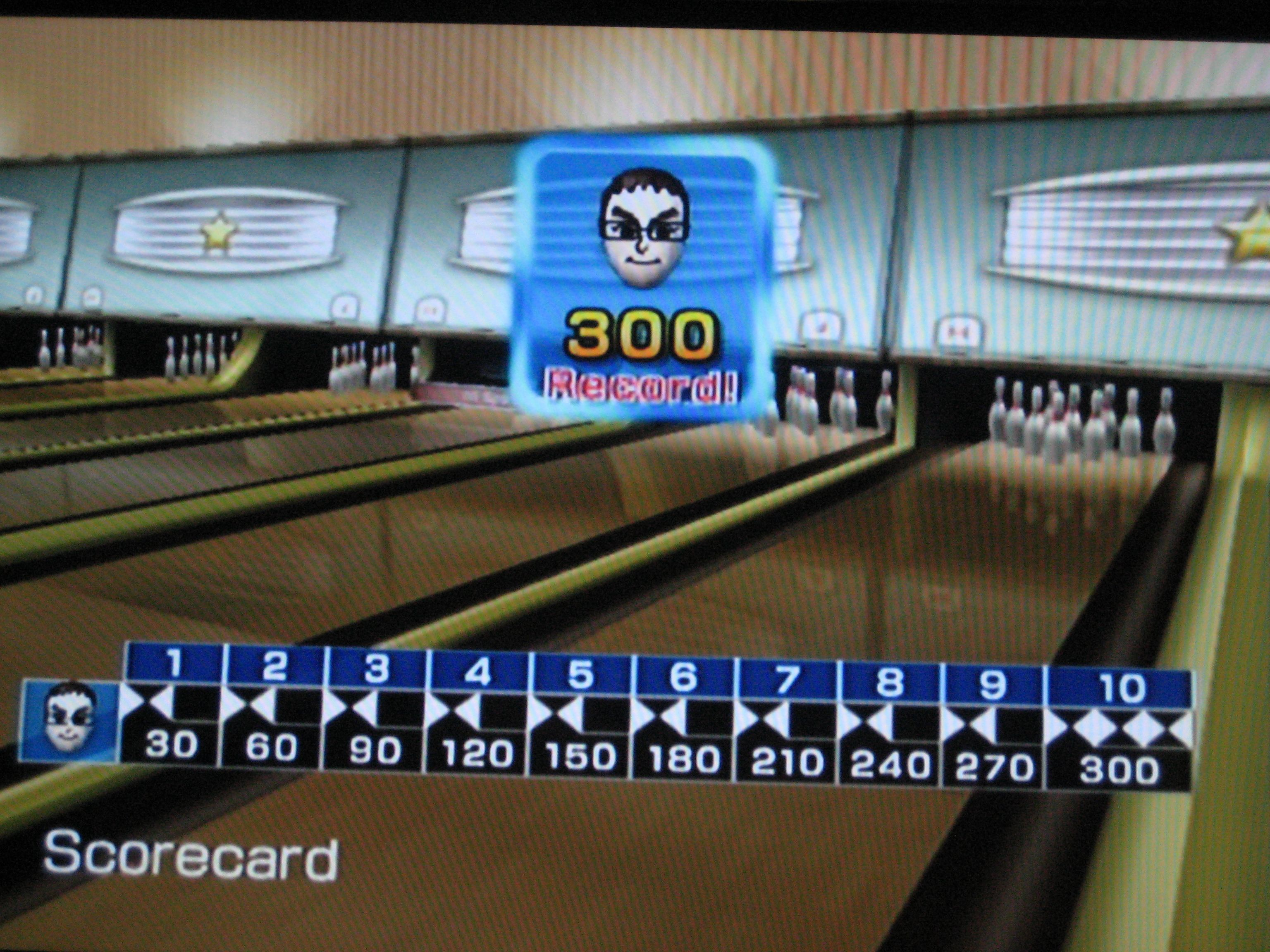 Wii Bowling 300 Score The Only 300 Ever Scored At Pump It Up Amf Bowling Bowling Bowling Games