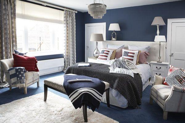 New England Style Fedeste Teenagevaerelse Jeg Laenge Har Set Blue Bedroom Design Blue Room Inspiration Blue Interior Design