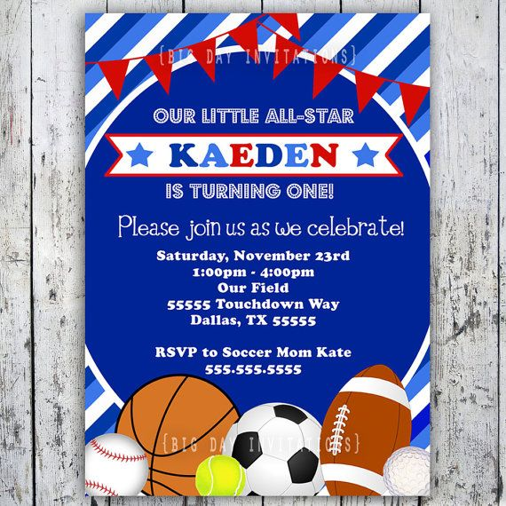 Sports Birthday Invitation; Ask If Only Basketballs