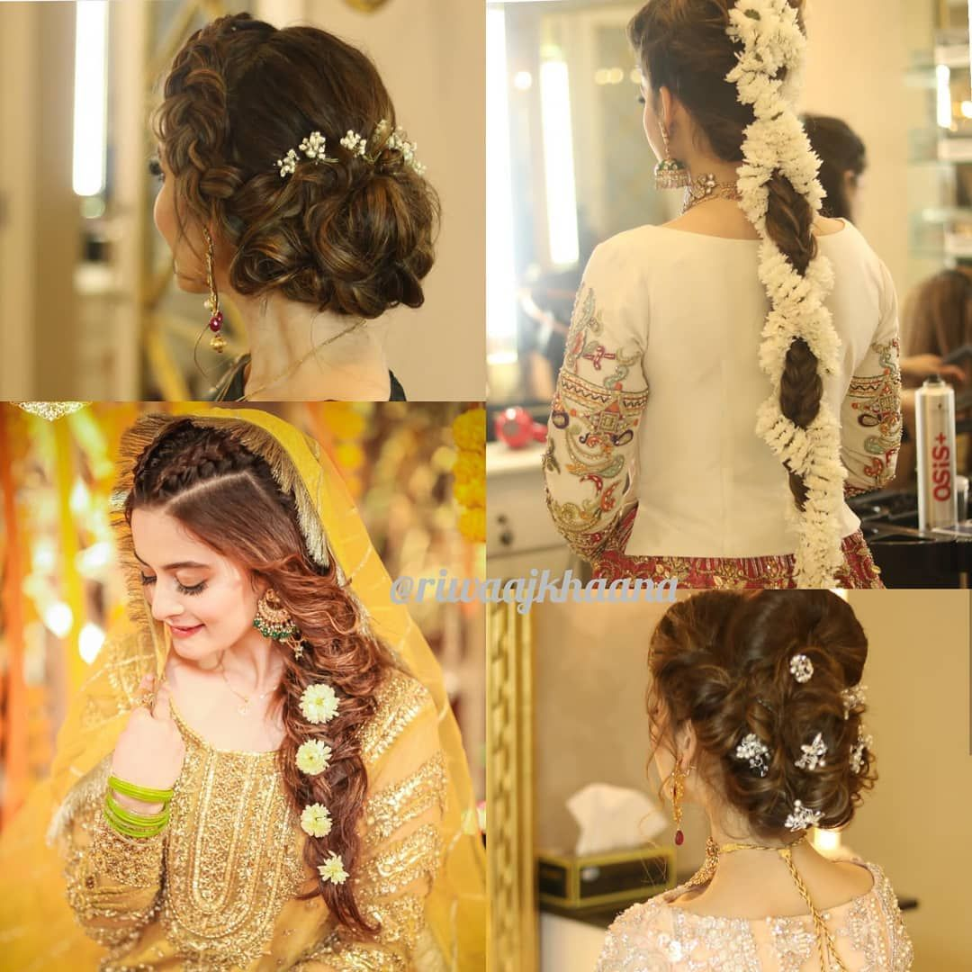 I Am Loving These Amazing Hair Do S Of Aimankhan Official Done By Sarasalonandspa Riwaajkhaana Aimank Cool Hairstyles Hair Dos Hair Inspiration