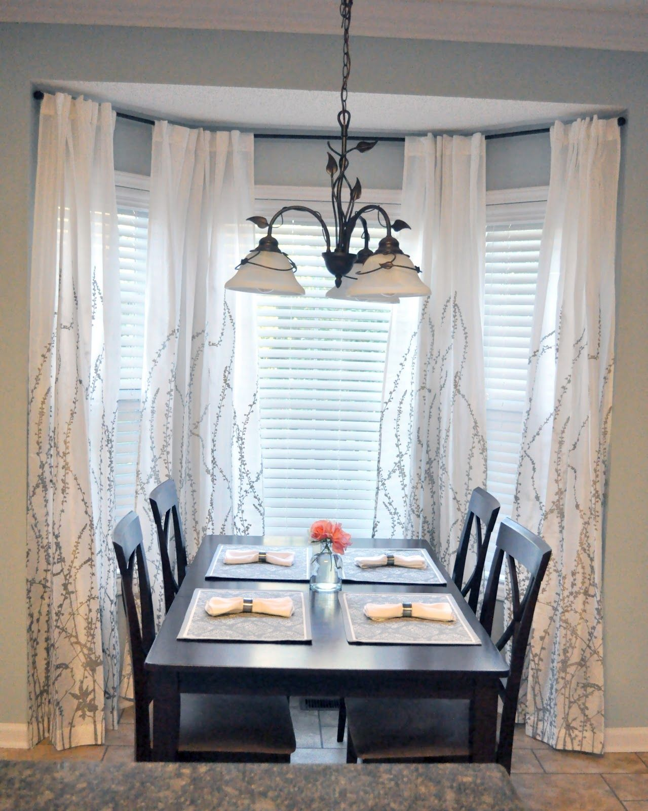 October 2012 Dining Room Window Treatments Dining Room Curtains