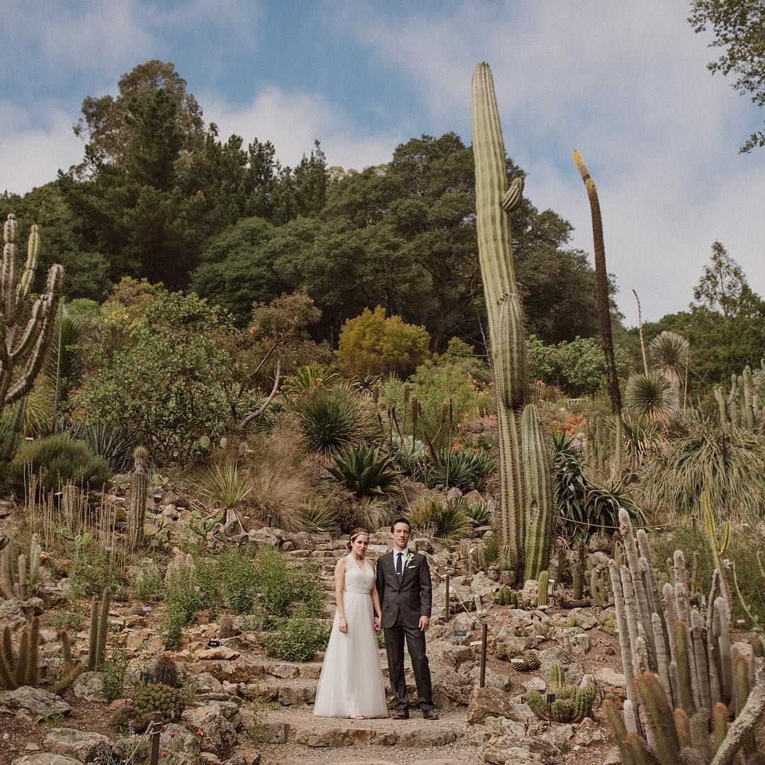 Laura + David at the UC Berkeley Botanical Gardens."