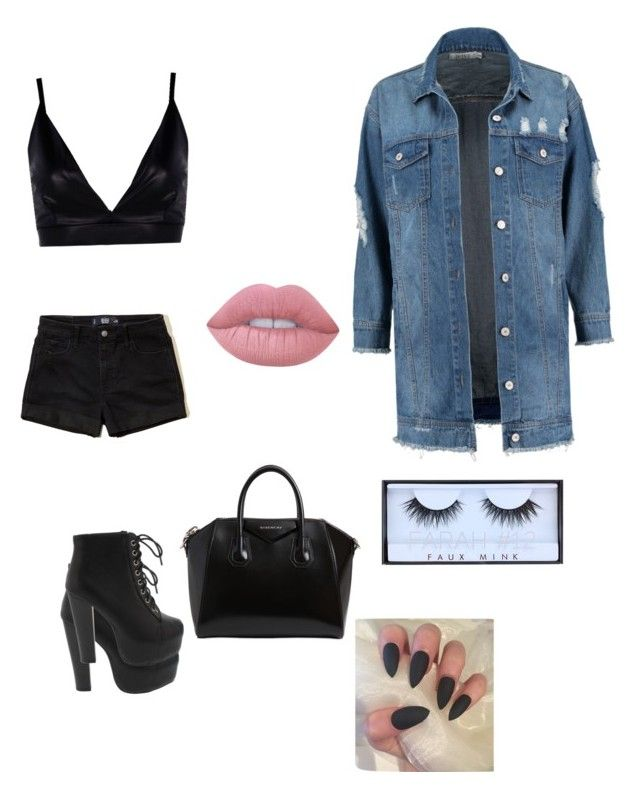 """💎"" by damaribrown on Polyvore featuring Boohoo, Hollister Co., Givenchy, Huda Beauty and Lime Crime"
