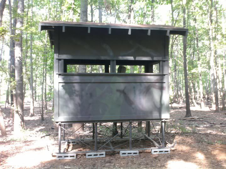 Diy deer blind plans post what you have texas for Deer ground blind plans
