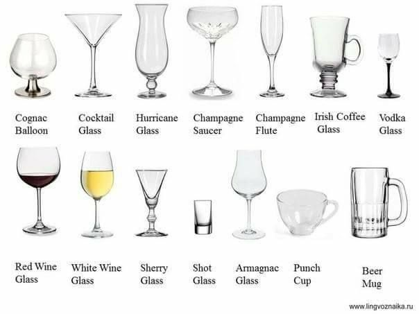English Vocabulary English Vocabulary Wine Glass Sizes Beer Glassware