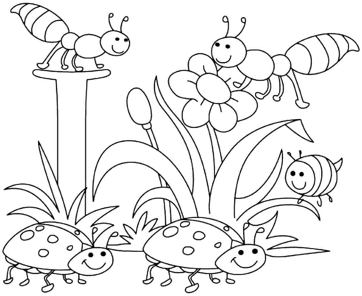 Free Printable Spring Coloring Pages Kids Easy Coloring Pages