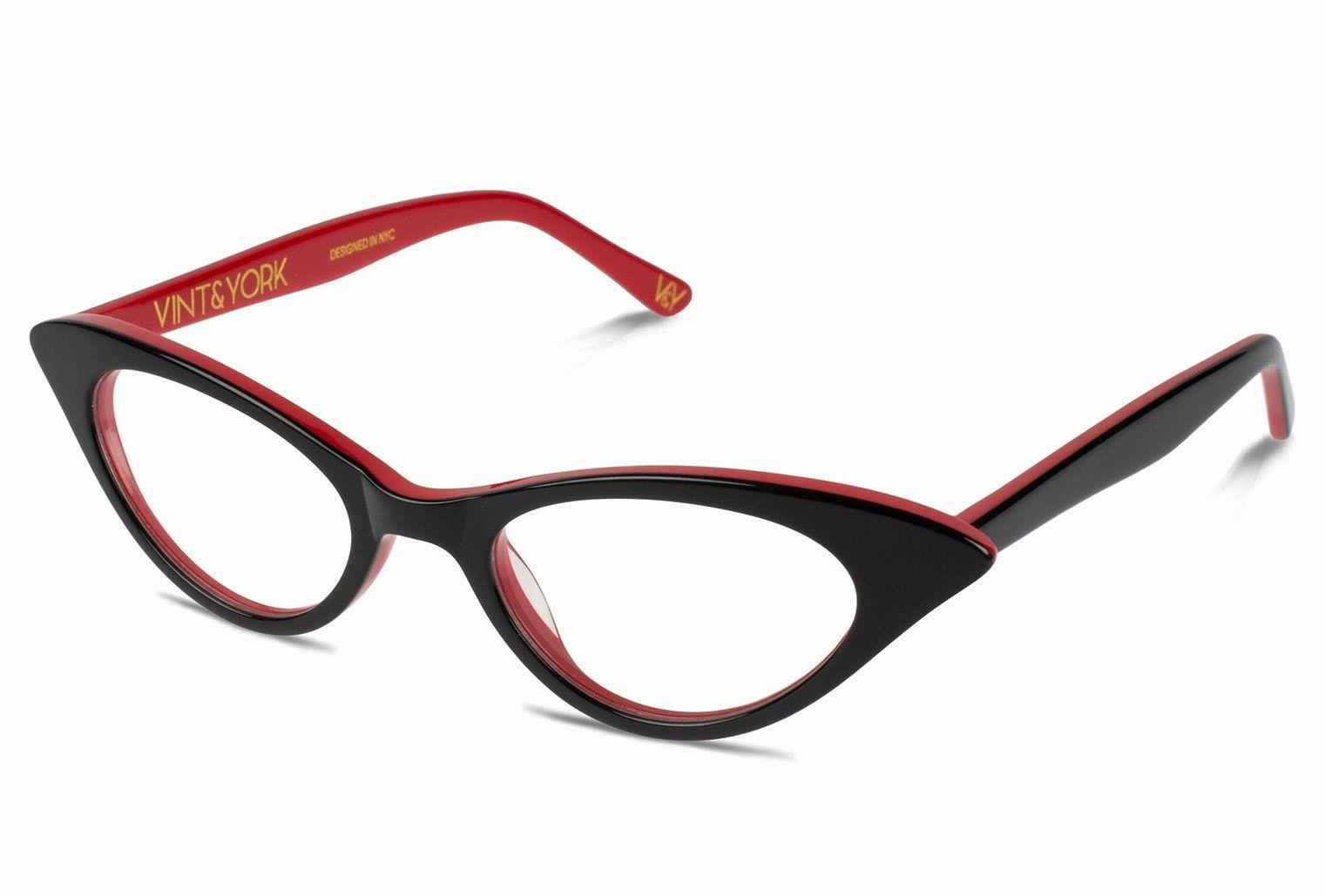 dd3a1a2ddf9 CATS MEOW Cat-Eye Glasses Frame In Black For Women - Vint   York Eyewear