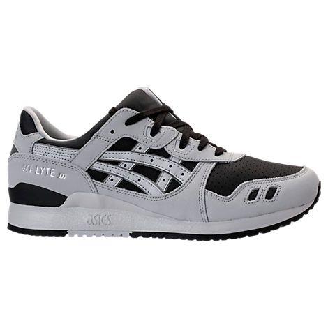 asics asics men's gellyte iii casual shoes grey/black