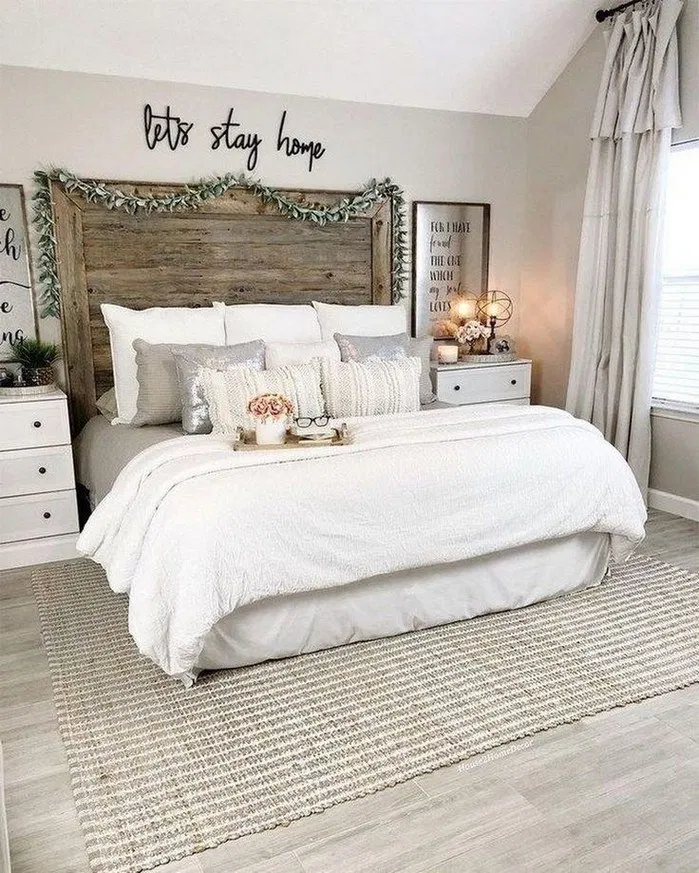 152 Magnificient Farmhouse Master Bedroom Ideas On A Budget 29 Terinfo Co In 2020 Farmhouse Style Master Bedroom Small Master Bedroom Master Bedrooms Decor