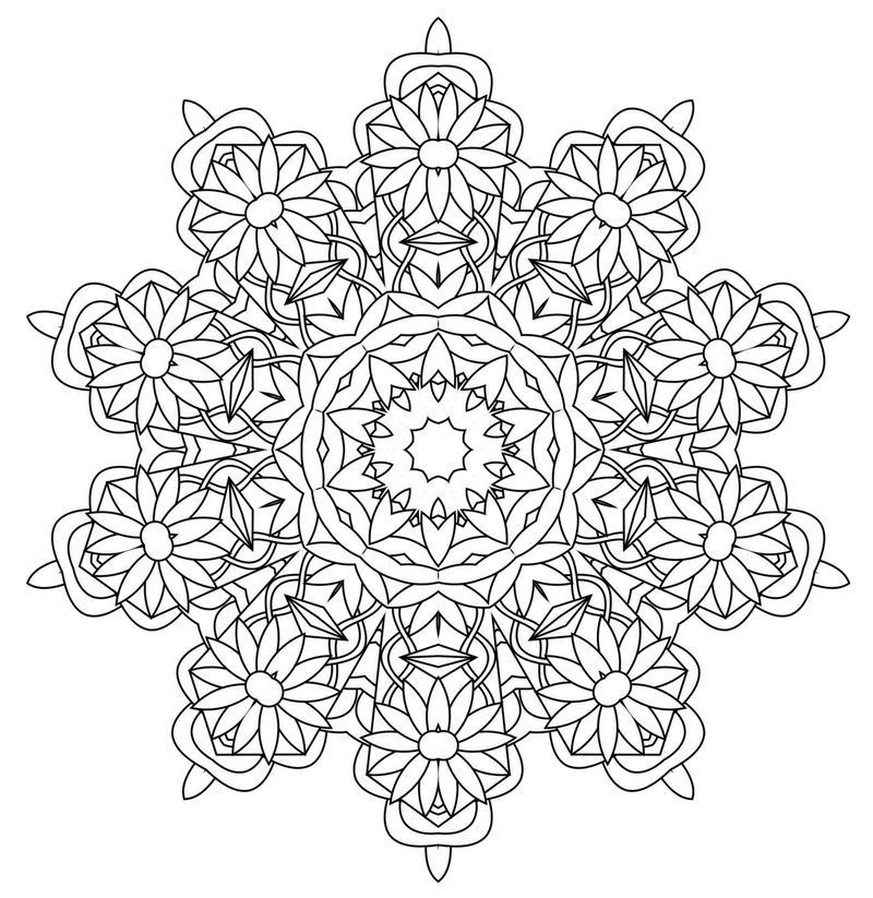 kaleidoscope wonders coloring pages for adults  printable