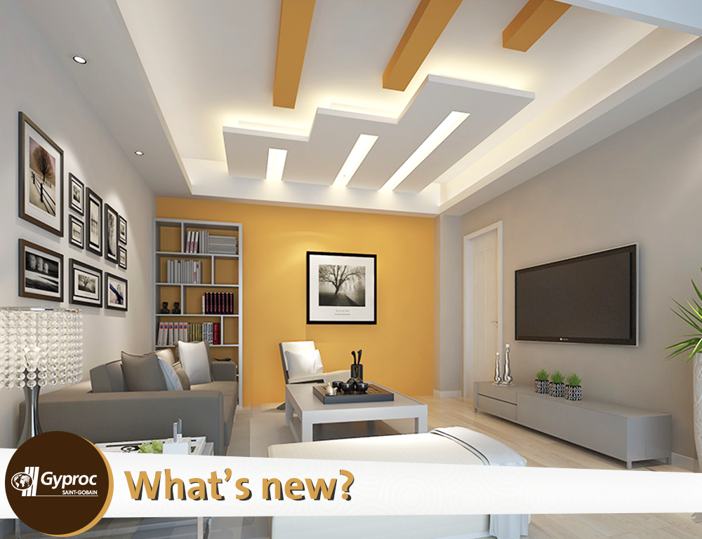 Pin by gyproc india on what 39 s new pinterest ceilings for Living room gypsum ceiling designs